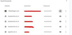 गूगल क्रोम Browser me save password