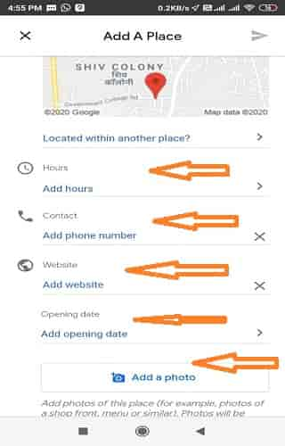 google map me location kaise add kare.