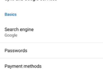 Google Chrome Browser me save password