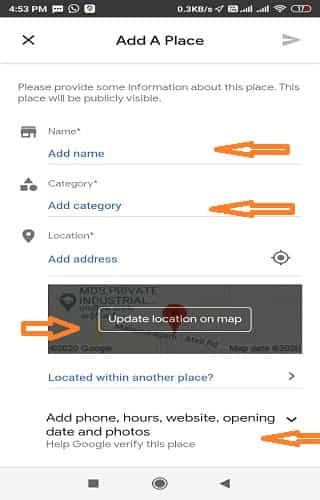 Google Map Me Home Office Shop Ka Location Address Kaise Dale.