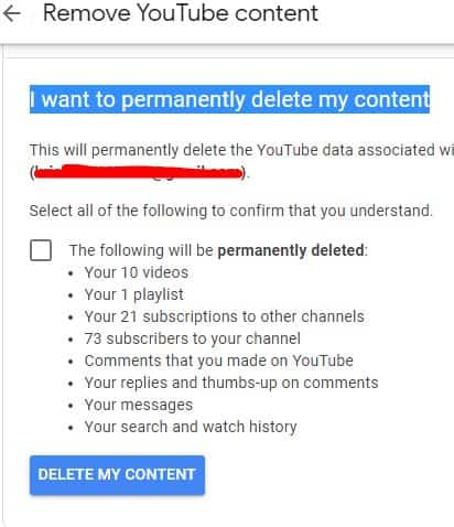 i want permaently youtube channel account